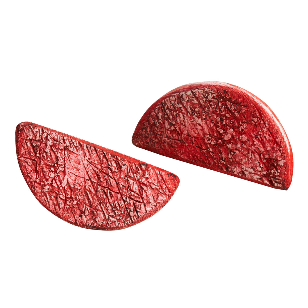 Its Burgundy Time Polymer Clay Handmade Statement Stud Earrings