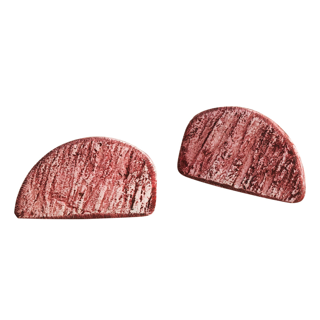 Did you Say Burgundy or Rose? Polymer Clay Handmade Statement Stud Earrings