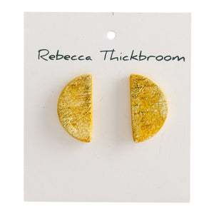 It's Time to Shine Polymer Clay Handmade Statement Stud Earrings