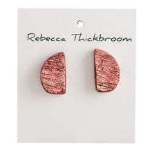 Load image into Gallery viewer, Did you Say Burgundy or Rose? Polymer Clay Handmade Statement Stud Earrings