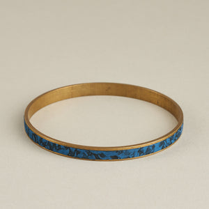 Stylish Polymer Clay Inlaid in Brass Bangle Various Colours Available