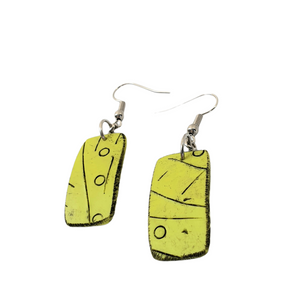 Mawi Isle Earrings Contemporary Palm Trees Loving Green