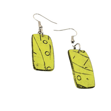 Load image into Gallery viewer, Mawi Isle Earrings Contemporary Palm Trees Loving Green