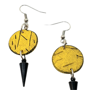Geo Dot Strikes Isle Earrings - Yellow and Black