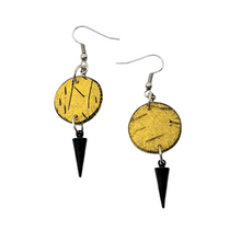 Load image into Gallery viewer, Geo Dot Strikes Isle Earrings - Yellow and Black