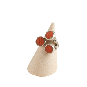 Trumpet Fish Oceanic Adjustable Statement Ring Silver Plated in Various Colours