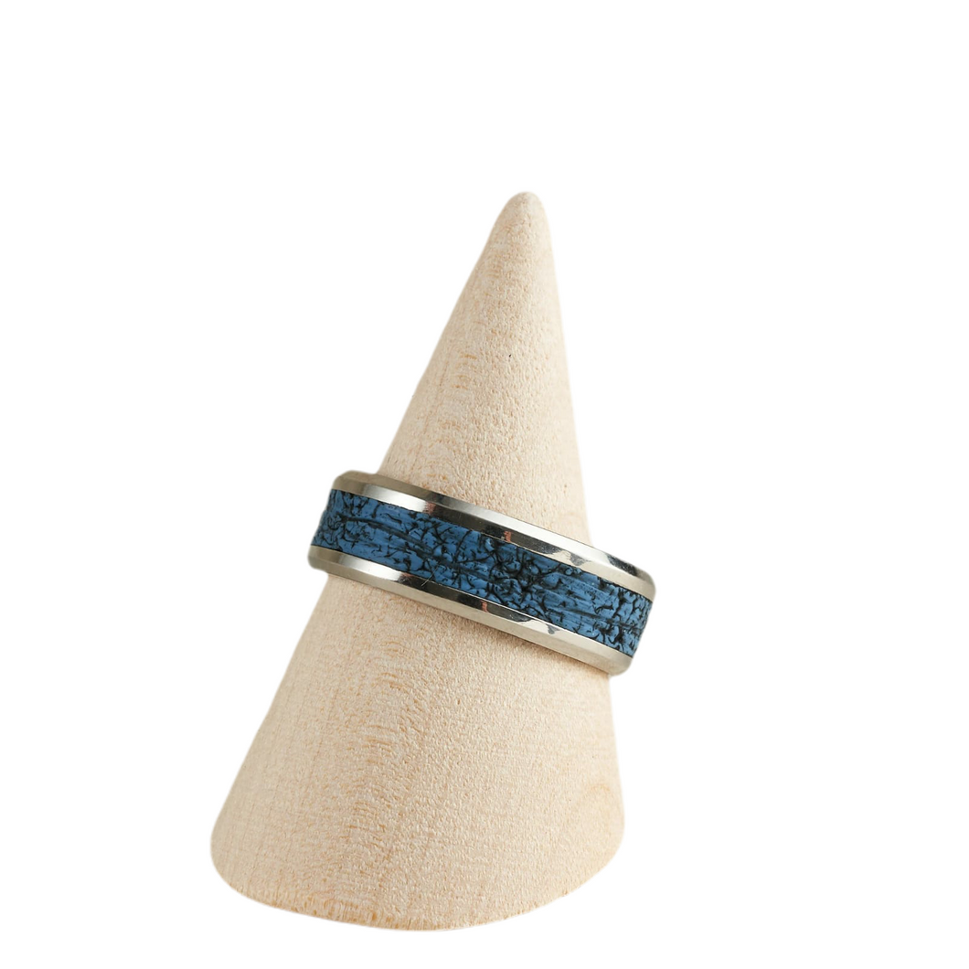 Men's Ring - Size 11.75 / UK X Hand Carved and Painted Surface Design Various Colours