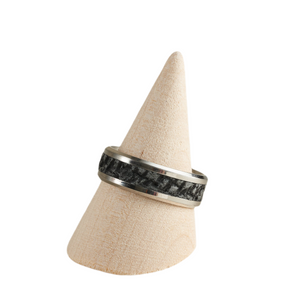 Unique Men's Ring - Size 12 / UK  Polymer Clay Inlaid - Various Colours Available