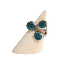 Load image into Gallery viewer, Trumpet Fish Oceanic Adjustable Statement Ring Silver Plated in Various Colours