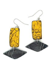 Load image into Gallery viewer, Azul Isle Earrings - Yellow & Black