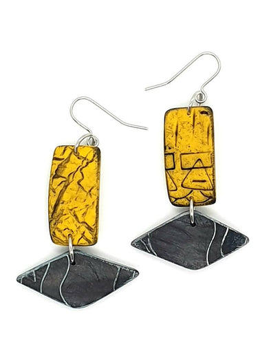 Azul Isle Earrings - Yellow & Black
