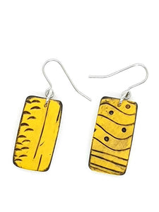 Mawi Isle Earrings - Yellow & Black