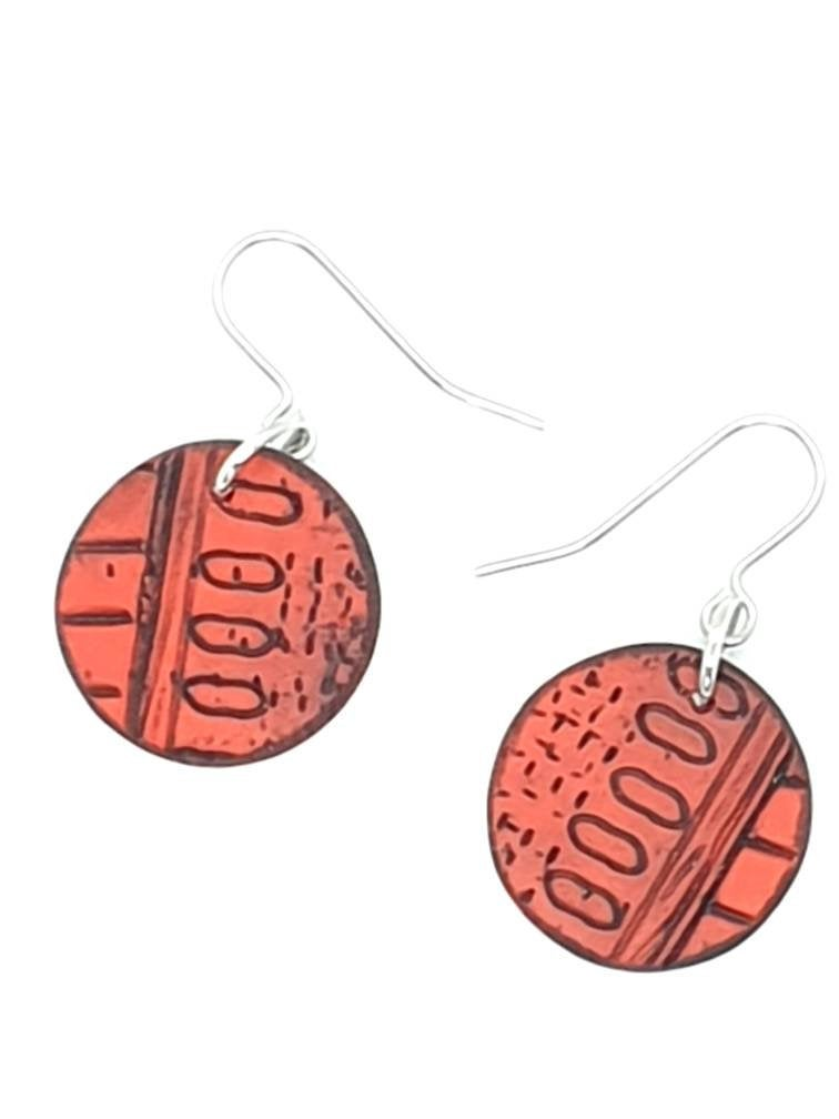 Inise Isle Earrings - Sunset Red