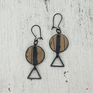 Musgum Huts Handmade Polymer Clay Statement Dangle Earrings