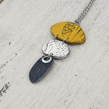 Load image into Gallery viewer, Handmade Tribal Eye Summer Fun Statement Necklace Yellow White and Black Pendant