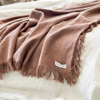 Lyla Fringed Throw - Simply Hygge Homewares