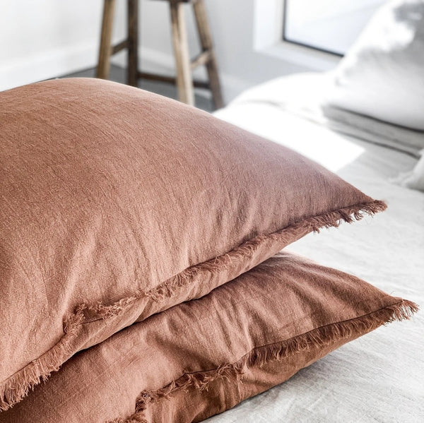 Pippa Euro Cushion Cover - Rust - Simply Hygge Homewares
