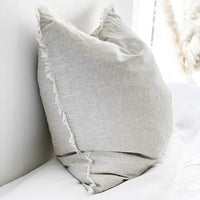 Felix Euro Cushion Cover - Flax - Simply Hygge Homewares