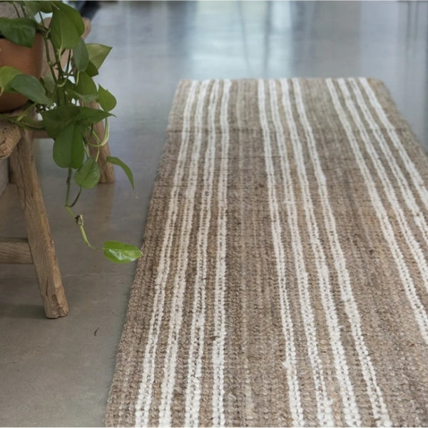Amber Stripe Jute Runners - Various Sizes