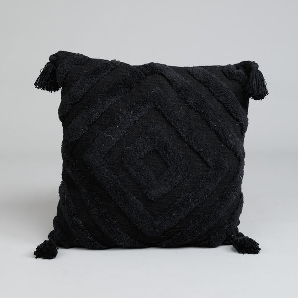 Kasbah Boho Cushion - Noir - Simply Hygge Homewares