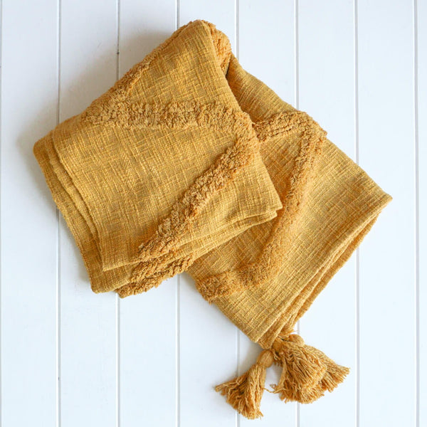 Boho Cotton Throw - Ahana