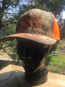 Neon Orange and Camouflage SMX hat