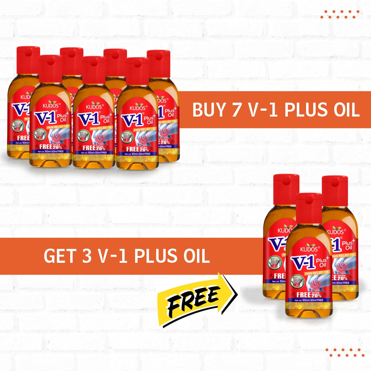 Buy 7 V-1 Plus Oil & Get 3 V-1 Plus Oil Free