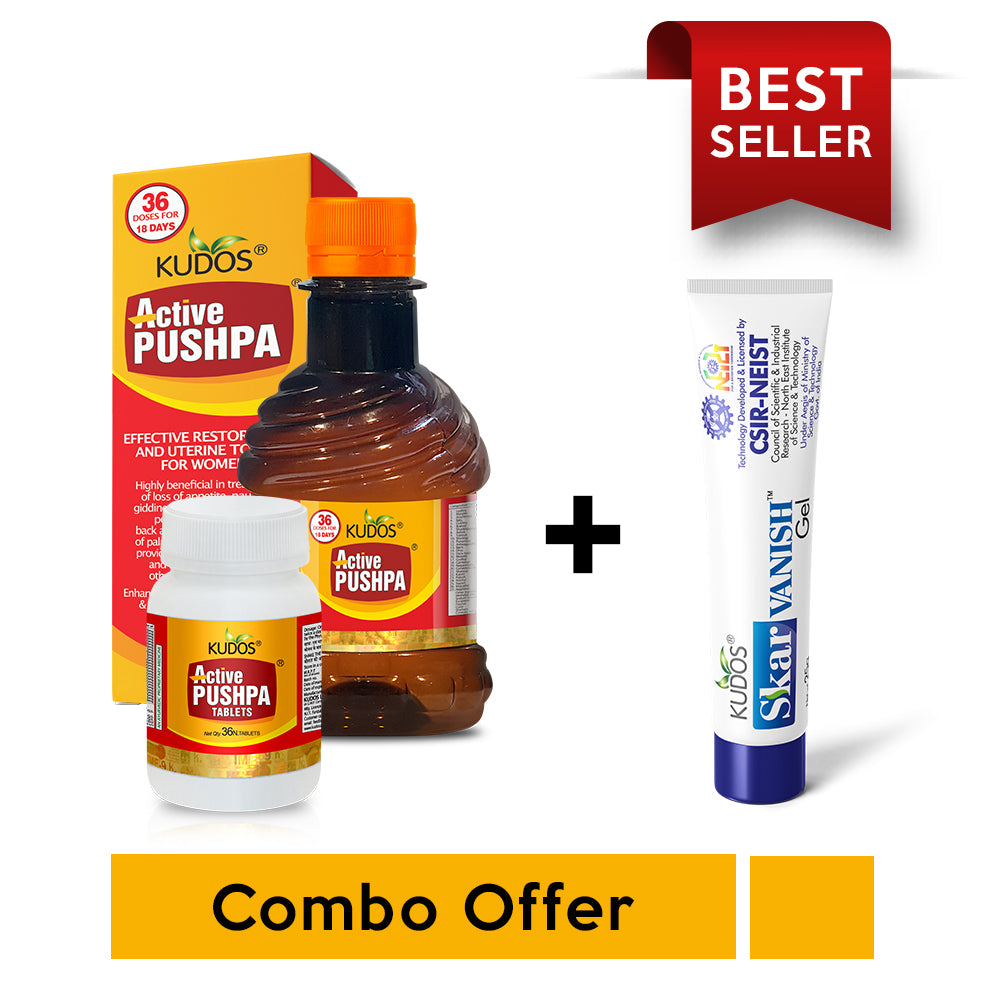 Buy 1 Active Pushpa & get 1 Skar Vanish Gel 25g