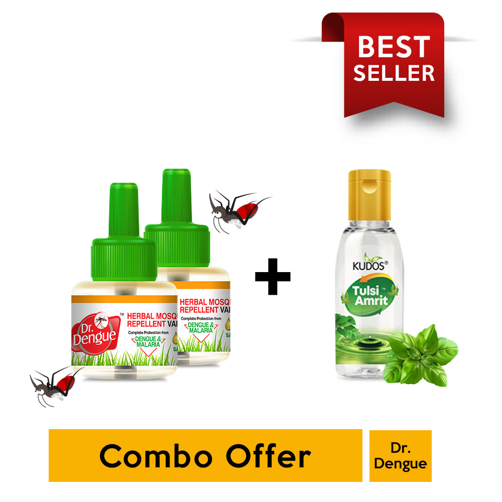 Buy 2 Dr. Dengue Herbal Mosquito Repellent Vaporizer & Get 1 Tulsi Amrit 15ml Free