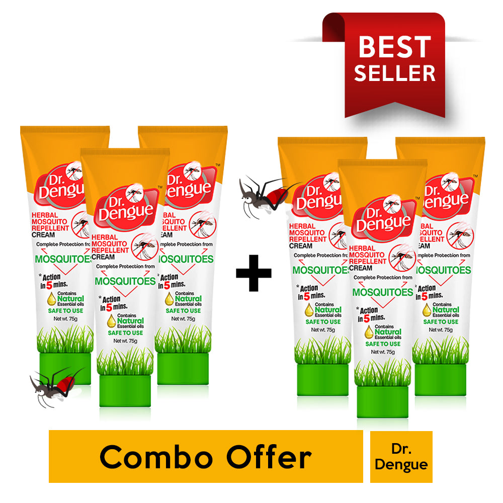 Buy 3 Dr. Dengue Herbal Mosquito Repellent Cream & Get 3 Free