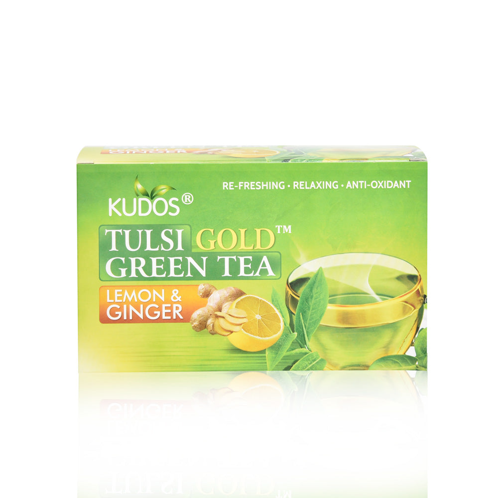 Tulsi Gold Green Tea (Lemon & Ginger)