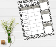 'Simplistic' Black & White Meal Plan Template Collection