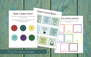 Super Lunches - Eaten: PDF printable kit
