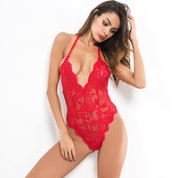 Sexy Bodysuit Transparent Lace Backless Lingerie - Fashionz Shop