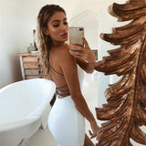 Sexy Backless Spaghetti Straps Nightclub Dress - Fashionz Shop