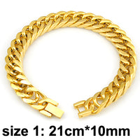Classic Men's Silver/Gold Color Stainless Steel Bracelet - Fashionz Shop