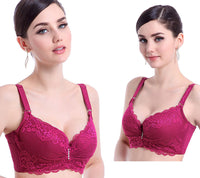Ultra-thin Lace Push Up Cotton Brassiere - Fashionz Shop