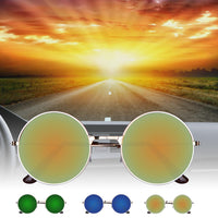 Vintage Round Mirror Metal Frame Sunglasses - Fashionz Shop