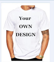 2017  Your OWN Design Brand Logo/Picture White Custom Men and women t-shirt Plus Size T Shirt Men Clothing,,Fashionz Shop,Fashionz Shop