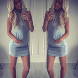 Fashion Womens Summer Casual Sleeveless Hoody Dress,,Fashionz Smarts,Fashionz Shop