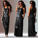 Women Casual Sleeveless Boho Long Cocktail Party Beach Dress - Fashionz Shop