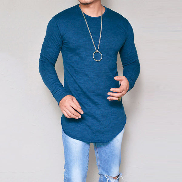 Slim Fit Long Sleeve T-shirt - Fashionz Shop
