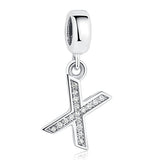 Authentic 925 Sterling Silver Alphabet Letter Charms - Fashionz Shop