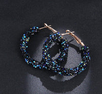 Austrian Crystal Hoop Earrings - Fashionz Shop