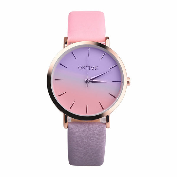 Retro Rainbow Design Quartz Watch
