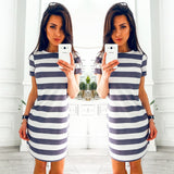 Striped Beach Party Dresses - Fashionz Shop