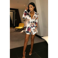 Women's Lace Floral Mini Dress - Fashionz Shop
