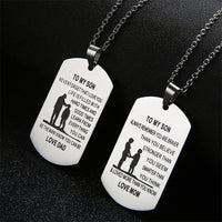 Stainless Steel Pendant Engraved Necklace