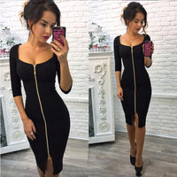 Summer Dress 2018 New Fashion Women Casual Knitting Bodycon Sexy Club Dress Knee-Length Party Wear Dresses,,Fashionz Shop,Fashionz Shop