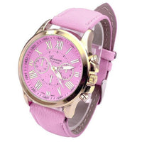 Faux Leather Analog Quartz Wrist Watch - Fashionz Shop